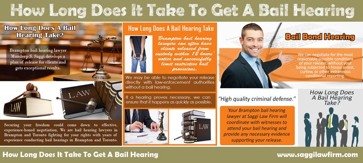 Visit this site http://saggilawfirm.com/criminal-law/bail-hearings-bail-reviews/ for more information on how long does it take to get a bail hearing. When you are accused of a crime, getting arrested and spending time in jail can be an unfamiliar and frightening experience. Fortunately, since you are legally innocent until proven guilty, in many cases a judge may allow you to be released until your hearing or trial.