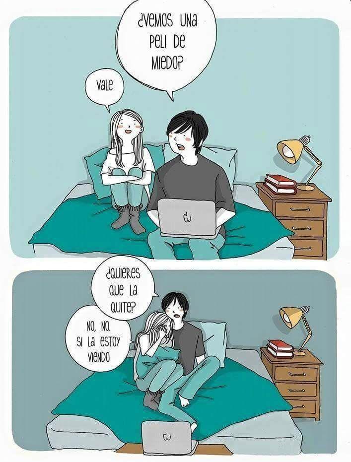 Una peli de miedo. #humor #risa #graciosas #chistosas #divertidas
