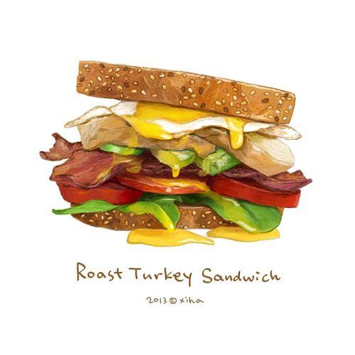Roast turkey sandwich ~ xihanation
