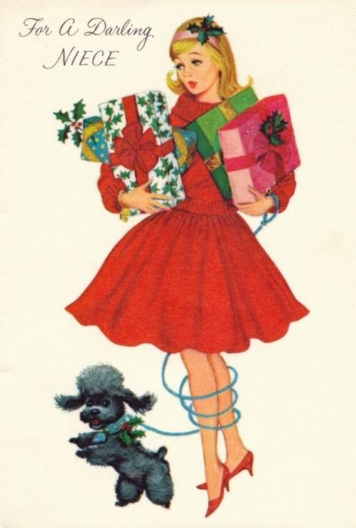 Recent Acquisition - Ephemera Collection To a Darling Niece … Vintage greeting card, ca. 1960s