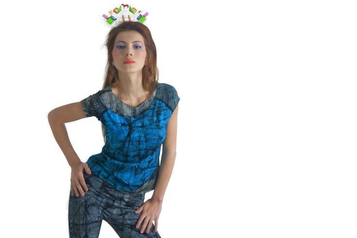 Camiseta y leggins pintados a mano en 100% algodón  Diseños exclusivos!!!!