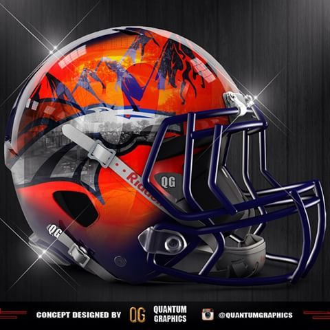 Denver Broncos concept helmet with a chrome finish!! I decided to give a little revamp to the Broncos Concept helmet that I made a couple months back, still kept everything else pretty much the same with the Rocky Mountains outline along the top of the helmet! Just thought it would look cool chromed out, Let me know what you guys think! #Denver #Broncos #DenverBroncos #MileHigh #NFL #Football #sport #sports #sportsposters #ESPN #REVO #REVOSPEED #Helmet #Concept #Chrome #UnitedInOrange…