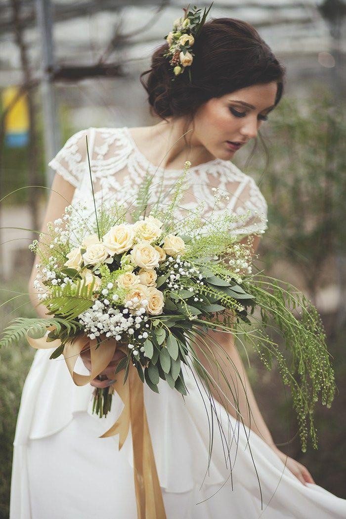 Beautiful Floral Bridal Shoot Scottish Wedding Directory Venue: Secret Herb Garden Edinburgh Photography: Laura A Tiliman Photography