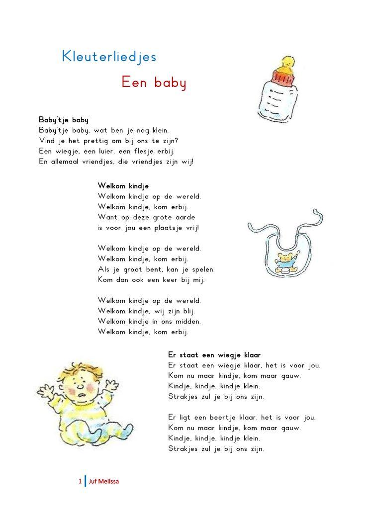 Kleuterliedjes 'Een baby'