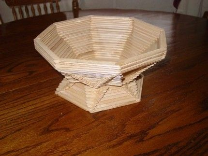 Popsicle Stick Basket - STICKStoSTUFF - http://www.artfire.com/modules.php?name=Shop&op=listing&product_id=695366