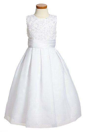 Joan Calabrese for Mon Cheri Sleeveless Communion Dress (Little Girls & Big Girls) | Nordstrom