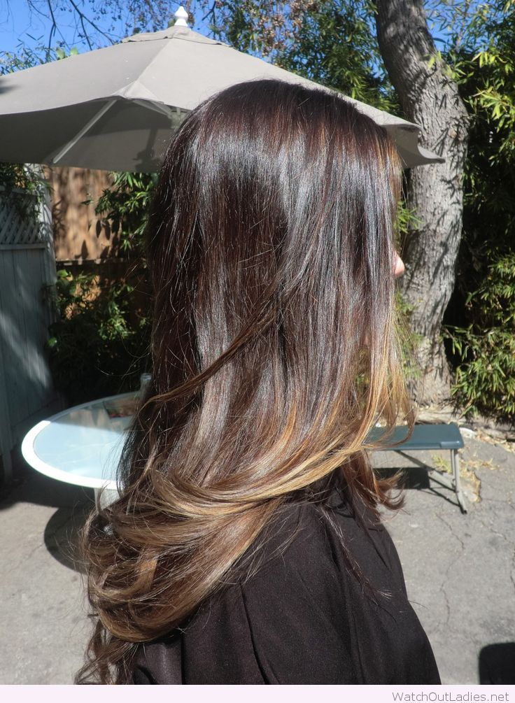 Not too light or dark for brown hair, the layered balayage is the trend to try this fall