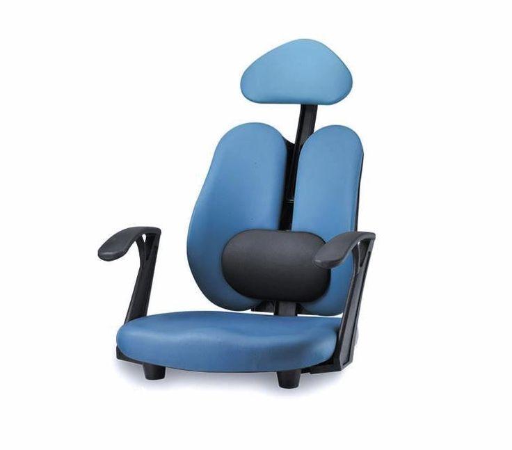 Ergonomic Armrest Floor chair w/Lumbar Support Headrest Computer chair tatami
