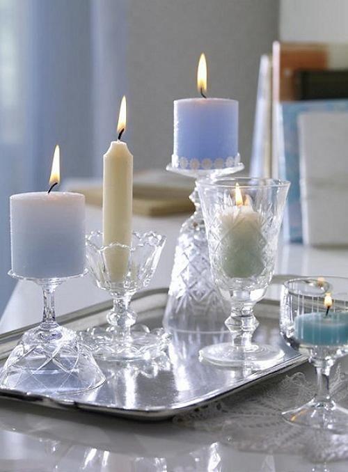Detalles con velas para la decoraci n de navidad navidad - Adornos navidenos con velas ...