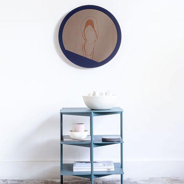 The 'Navy Angled Small Circle Mirror' with my 'Coastal Shift' rug // Styling by @lmelling Photographed by @jonmcmorran ⠀  .⠀  .⠀  .⠀  .⠀  ⠀  #handmade #nepal #handmaderug #interiordesign #vancouverdesign #rug #ruginterior #rugs #homedecor #design #rugdesign #rugaddict #luxury #interiors⠀  #interiorobsessed #designlovers #instadesign #modernliving #moderninteriors⠀  #luxe #mirror #mirrors #modernmirror #canadianmade #handcrafted #minimal #instadesign #homedecor #wallart #wallartdecor