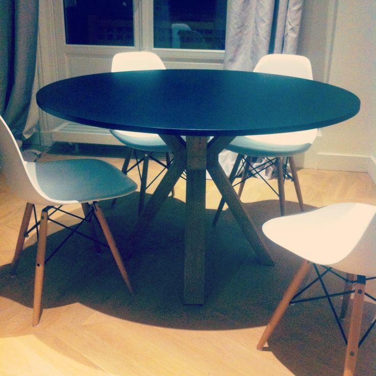 Les Meilleures Idées De La Catégorie Table Haute Ronde Sur - Table pied metal plateau chene pour idees de deco de cuisine