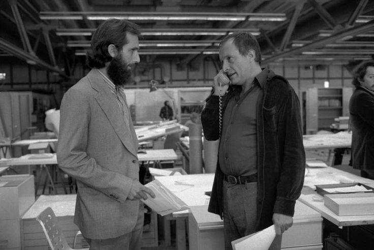 Центр Помпиду в честь 40-летия получит 100 млн евро на ремонт Молодые архитекторы: 39-летний Ренцо Пиано и 43-летний Ричард Роджерс в 1976 году.