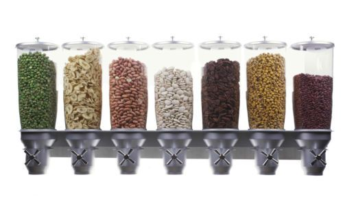 IDM-Wall-Mounted-7-Cereal-Dispenser-5-Liter-Silos.Professional high quality cereal dispensers used by Hotels, Shops, Bars at affordable prices!!No more half-eaten boxes. Portion control - Great for kids and for keeping your diet. Great for cereals, rice, beans, pasta and more! IDM products are certified with international standards FDA, BGA, EEC and NSF. When you buy an IDM dispenser you Maximize your: Freshness, Hygiene and Savings And Minimize your: Food waste, Packaging waste and Hassle