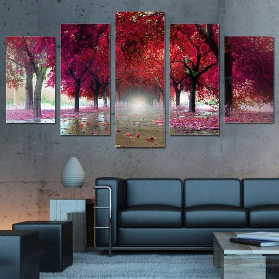 743ef4c7867 Premium Quality Canvas Printed Wall Art Poster 5 Pieces   5 Panel ...