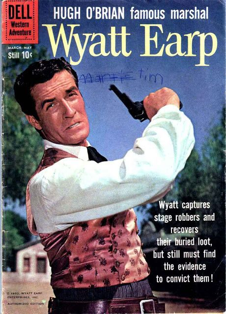 Wyatt Earp v2 #10 - dell western 1960s silver age comic book cover art