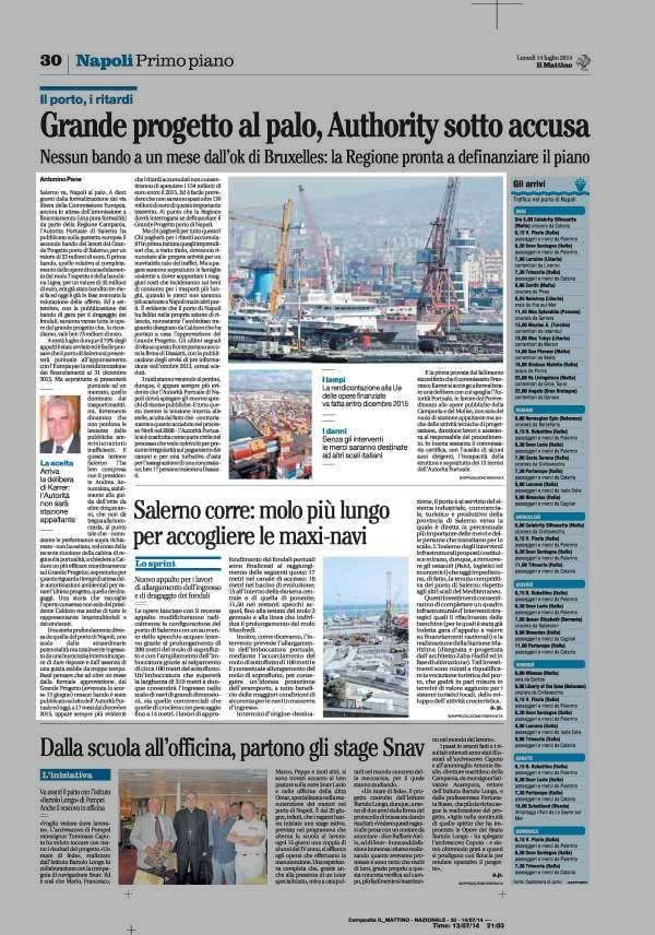 Salerno va, Napoli al palo.