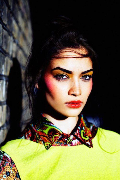 { by Jeff Hahn }: Shanina Shaik, Neon, Makeup, Shaninashaik, Summer Colors, Jeff Hahn, Sunday Life, Bright Colors, Colors Fashion