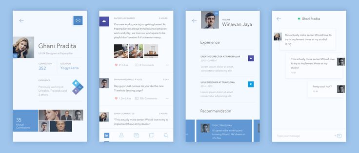 LinkedIn Redesign Screens – User interface by Iswanto