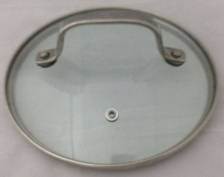 "Glass Replacement Lid Stainless Rim Fits 7"" Inside 7 1/2"" Outside Tall Handle #Unbranded"