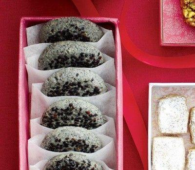 Black-sesame cookies