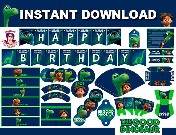 THE GOOD DINOSAUR Kit Party Printable, birthday,birthday card, party supplies,instant download,Printable Party, Arlo and Spot  Party by ImprimiblesSusaneda on Etsy https://www.etsy.com/listing/258393787/the-good-dinosaur-kit-party-printable