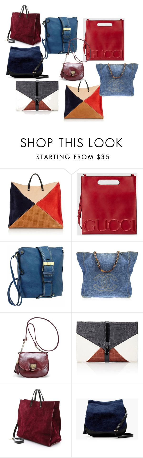 """""""сумки"""" by artemia-13 on Polyvore featuring мода, Clare V., Gucci, Chanel, Avenue, Little Liffner и J.Crew"""