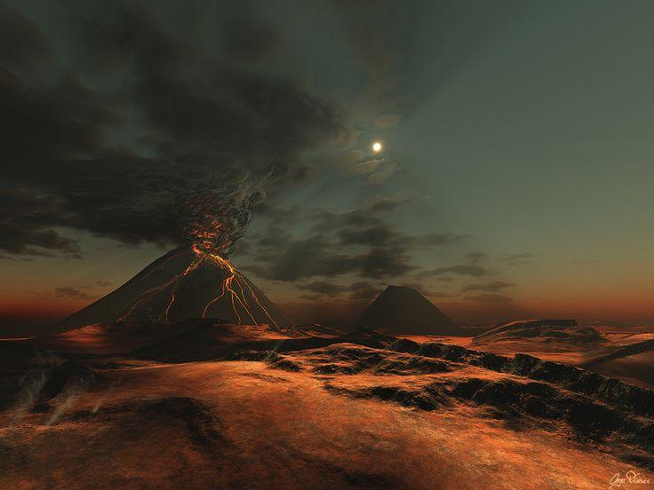 Moonlight Volcano: Moonlight Volcanoes, Galleries, Inga Nielsengatetonowh, Erupting Volcanoes, Inga Nielsen Gates To Nowhere, Volcanoes Downloads