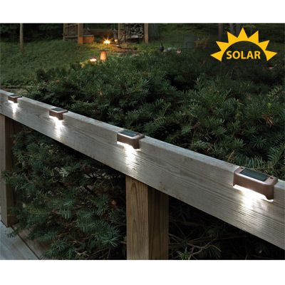 Best 28 solar powered led lights images on pinterest tool shop solar led deck lights set of 4 2995 improve safety on your aloadofball Image collections
