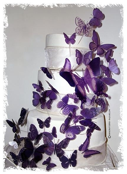 Butterfly CakeWhite Cake, Purple Butterflies, Purple Wedding Cake, Cake Ideas, Lavender Wedding, Wedding Cakes, Butterflies Cake, Birthday Cake, Cake Toppers