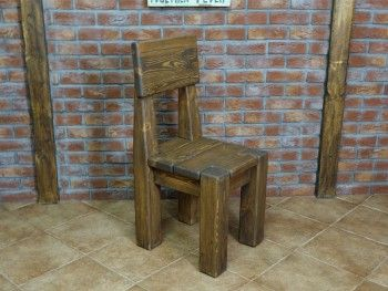 Židle borovicová Rustyk 1