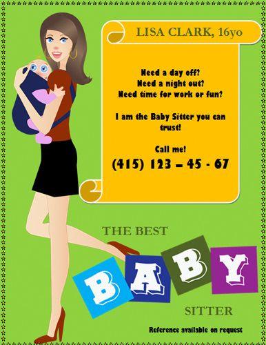 Pull Tab Flyer Template | cfddd3bdca5974b5b6d5dd32dd1fdd66 babysitting flyers baby sitting