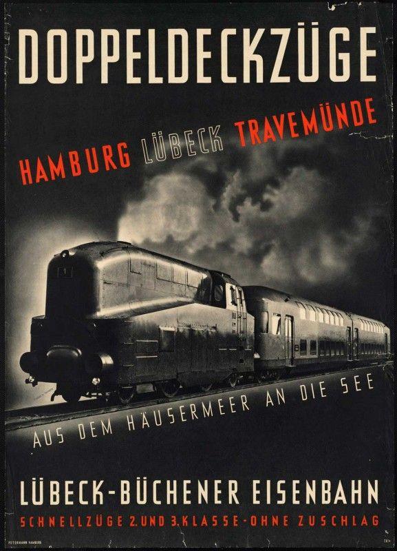Vintage Hamburg, Lübeck, Travemünde Travel Poster