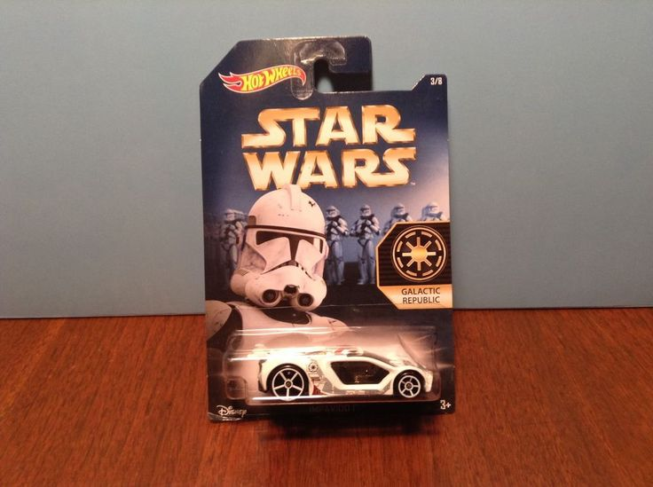 Hot Wheels Impavido 1 #3 of 8 Star Wars Galactic Republic White 2015 Disney #HotWheels