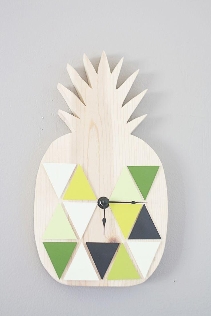 DIY Geometric Pineapple Clock Tutorial 60 best