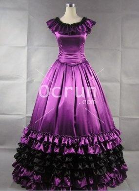 Wunderschönen lila Satin Gothic viktorianischen Kleid