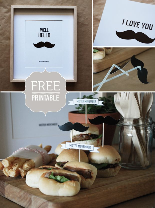 #Movember printables to support the cause.