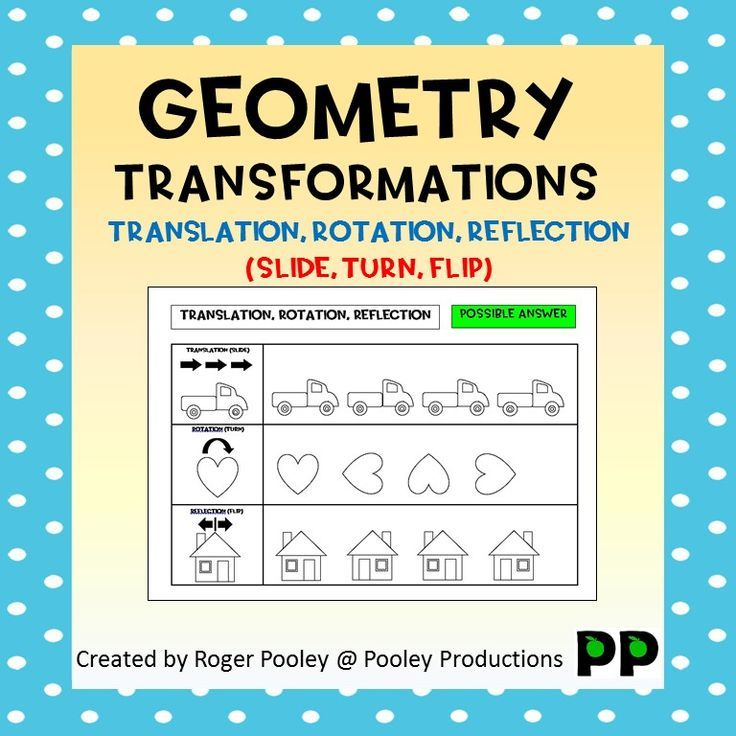 Transformations Worksheets With Answers Cazoom Maths Worksheets Transformations Math Geometry Worksheets Reflection Math