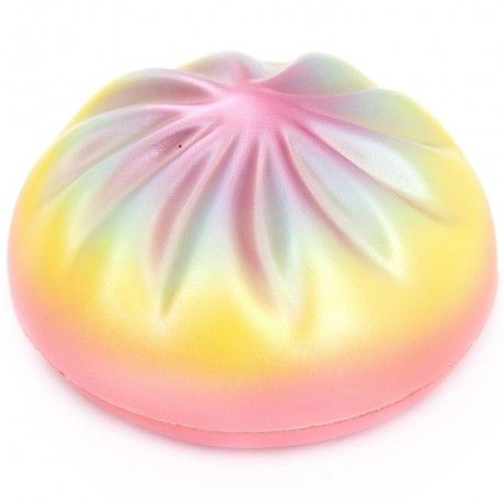 cute colorful rainbow steam bun squishy kawaii