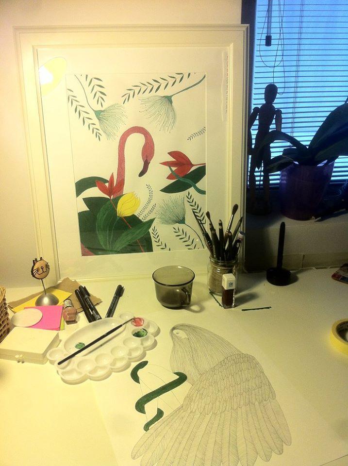 #workspace #drawing Elena Paraschiv Illustration (717×960)
