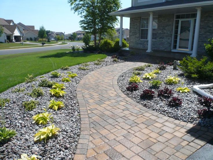 pictures of paver walkways up to front doors willow creek cobble pavers are used in a random. Black Bedroom Furniture Sets. Home Design Ideas