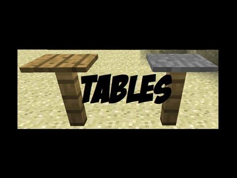 http://minecraftstream.com/minecraft-episodes/how-to-make-tables-in-minecraft-minecraft-furniture-episode-1/ - How to make Tables in Minecraft! [Minecraft Furniture Episode 1]  I show you how to make tables in minecraft in 2 different ways: Fence+Pressure plate and redstone torch+piston.  This is a new series I'll try out to see if you guys will like it.  please comment below what I can do next, and whether or not you like the series idea.  I can upload these...