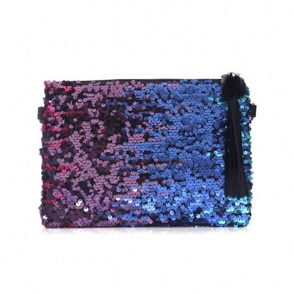 Yoins Yoins Mermaid Irridescent Sequin Clutch Bag ($17) ❤ liked on Polyvore featuring bags, handbags and clutches