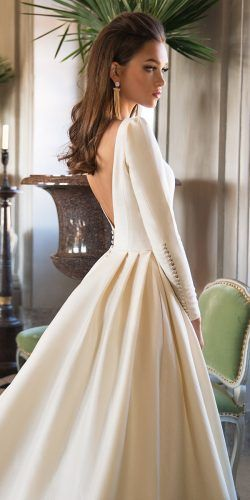 a line modern simple low back long sleeves milla nova wedding dresses  josephine 93a771b1f3d
