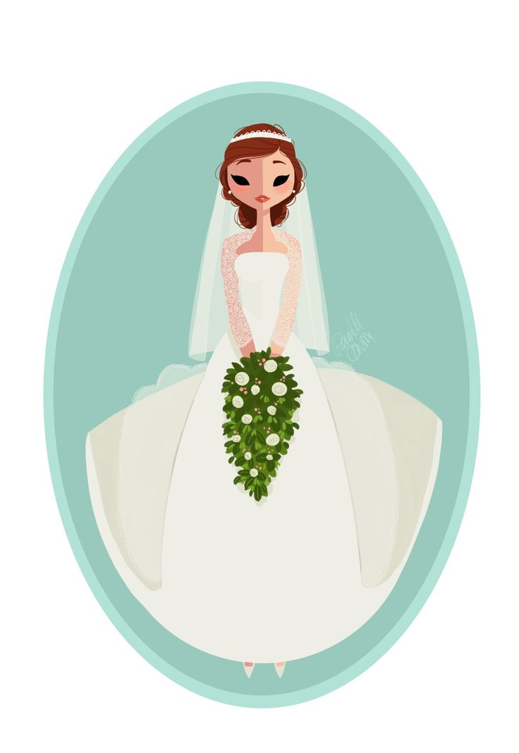 I might end up doing a collection. Here's the bride version. #drawing #doodle #sketch #wedding #girlsinanimation #gift