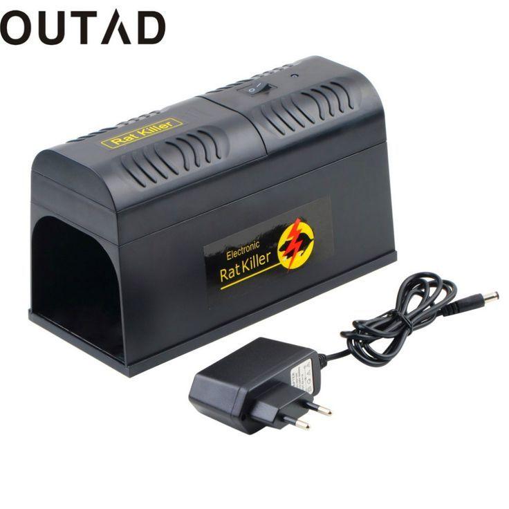 promo outad electronic rat trap mice mouse rodent killer electric shock eu plug