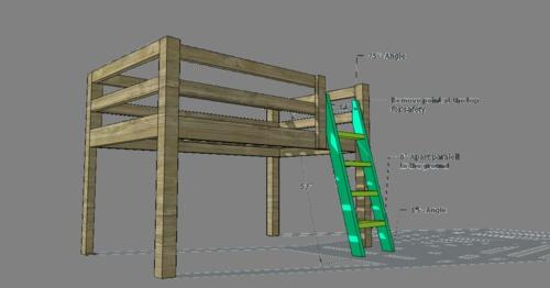 kids loft bed plans for the home pinterest creative rope ladder and loft bed plans. Black Bedroom Furniture Sets. Home Design Ideas