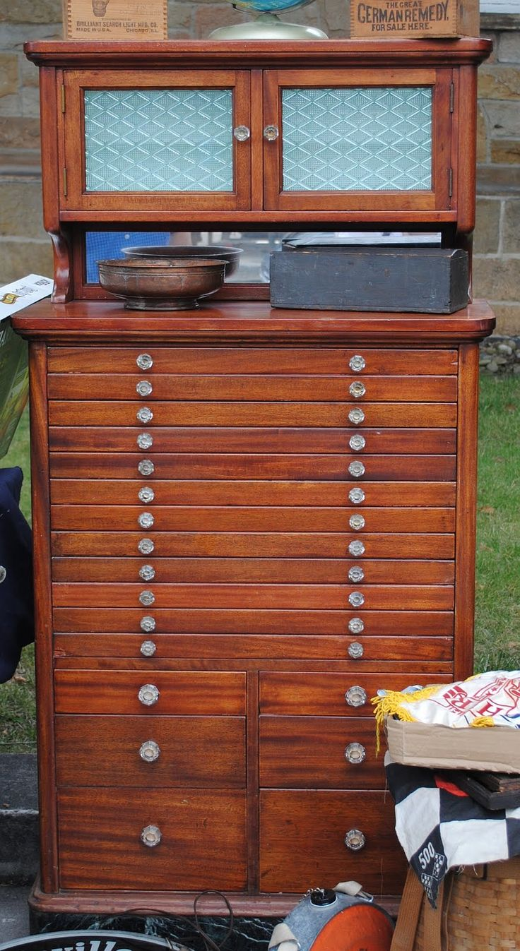 Captivating Vintage Dental Cabinet   IDEAL For Jewelry Storage   Minus The Hutch!