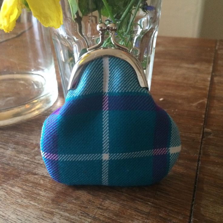 A personal favourite from my Etsy shop https://www.etsy.com/uk/listing/256423846/bonnie-aqua-tartan-coin-purse