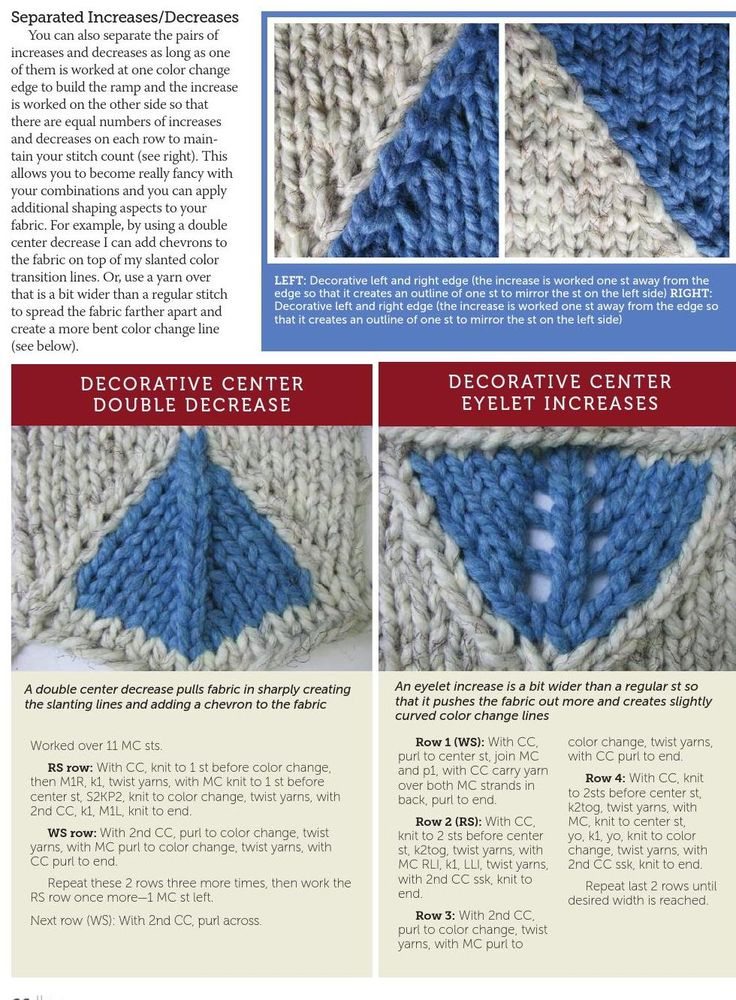 Knitting Increase Stitches : Best images about decrease increase on pinterest