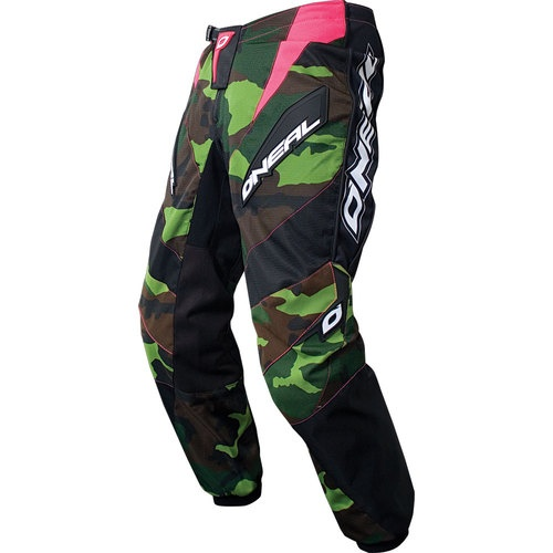 NEW ONeal Element Women's Camo/Pink Sz 5/6 Motocross Dirtbike Riding Gear Pants | eBay - Want these.